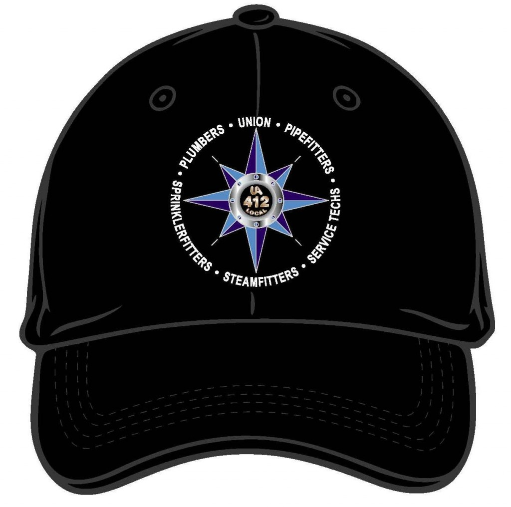 Black Adjustable Velcro Baseball Cap - Compass Logo